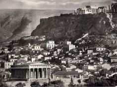 Temple of Hephaestus (Theseion) and the Acropolis, Athens, 1920 by Fred Boissonnas.