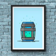 Chug Jug illustration inspired by Fortnites Battle Royale video game. I really like the consumables in Fortnite, especially the colours used in the Slurp Juice. This print of the Chug Jug illustration is available with the text seen in the thumbnails and is also available without if