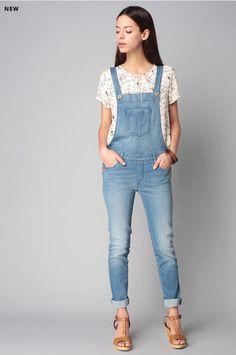 pepe jeans slate salopette bleached denim prix promo salopette femme zalando t 2016. Black Bedroom Furniture Sets. Home Design Ideas
