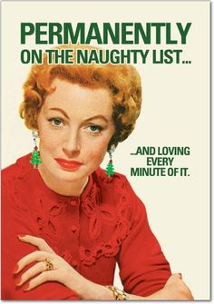 Amazon.com: Permanent Naughty List Christmas Humor Card (12 Pack): Office Products