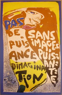 Asger Jorn - un artiste libre Lausanne, Tachisme, Ceramic Artists, Graphic Design Illustration, Illustrations Posters, Printmaking, Abstract Art, Poster Prints, Hermitage