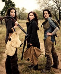 """The Three Original Texas Huntresses. www.texashuntress.com ** Ashley Chiles, photo by Tai Power Seeff. We came before """"Girlhunter,"""" and we are empowering women and going balls to the wall. Coming soon to a universe near you."""