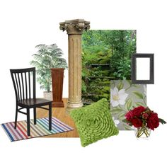 WOOD Element ...by renate-bell on Polyvore; Random samples of decorative items representing the element of Earth. A room with good Feng Shui balances all five elements.