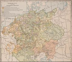 "Germany in the Fifteenth Century, by Earle Dow (1868-1946), from ""Atlas of European History"" (1907), plate 15."