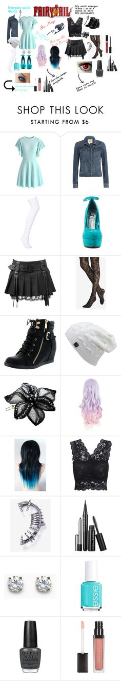 """""""Fairy tail role play ❤️"""" by justdoitanddance ❤ liked on Polyvore featuring Chicwish, Paige Denim, Luichiny, Express, Top Moda, Colette Malouf, Essie, OPI and Christian Dior"""