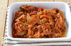 ごはんにもパンにも合う牛肉を使った常備菜。 牛肉を牛乳につけておくと気になる臭みをおさえることができるんです!そのひと手間がおいしい料理を作るコツなんですね。