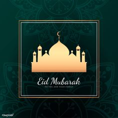 Eid Mubarak card with mosque pattern background | free image by rawpixel.com / sasi Eid Mubarak Card, Invitation Background, Backgrounds Free, Free Illustrations, Mosque, Background Patterns, Ramadan, Free Images, Vector Free
