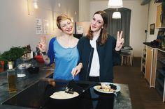Dienstag, 15.03., 11.30 Uhr – Kreuzberg, Blogfabrik: Sophia und ich haben zusammen für ihren YouTube-Kanal gekocht. © Milena Zwerenz