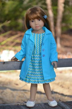Dress and Coat for Kidz n Cats doll . by Symidollsclothes on Etsy