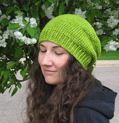L. O. V. E. Slouchy. Hip. Great look for women or men. Everyday People pattern by Brenda K. B. Anderson. Free crochet hat pattern.