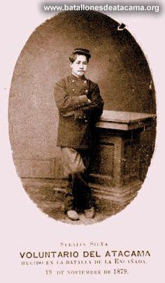 Serafín Silva Escudero (?-1907) Soldado del Batallón Cívico Movilizado N° 1. Participó en la Toma de Pisagua, Batalla de Dolores donde fue herido, Chorrillos y Miraflores. Fuente: www.batallonesdeatacama.org