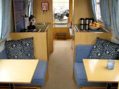 Narrow Boat Interior.