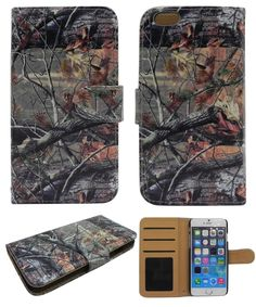 Camo Mossy Oak Winter Forest Tree Camouflage New Iphone 6 Case, Apple Iphone 6 4.7 Inch Slim Leather Wallet Book Cover with Stand Feature and Credit Card Id Holders for Iphone 6 (At&t T-mobile Verizon Sprint Us Cellular). Protect your phone with style through this Attractive Protector Case and make it tamper resistance. Delivers ultimate protection from scratches and molds perfectly to device's shape to highlight its beauty. Reinforced with hard plastic to the sides to ensure the…