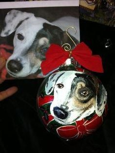 www.cyndiewade.com Dog Christmas Ornaments, Christmas Animals, Christmas Dog, Photo D Art, Pet Names, Illustrations, Custom Paint, Dog Lovers, Photos