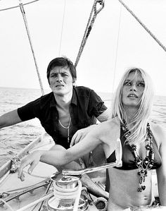 Alain Delon and Brigitte Bardot