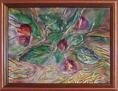 Abstract Floral Painting Flamingo Flowers Gift for by AnnaKisArt