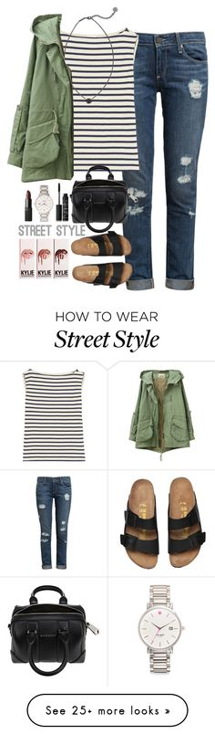 """""""street style"""" by lilypackard on Polyvore featuring Paige Denim, Yves Saint Laurent, Kendra Scott, Givenchy, NARS Cosmetics, Kate Spade, women's clothing, women, female and woman"""