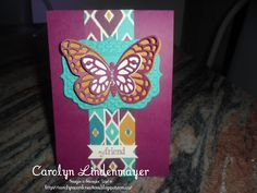 Carolyn's Card Creations: Bohemian Layered Butterfly Card