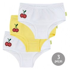 Calcinha Cerejinhas Kit 3 Peças - Nini   Bambini   764 Kids Loja Online 064bb5540be