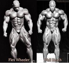 Right: Phil Heath; Left: Flex Wheeler
