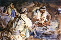 The Athenaeum - Bedouins in a Tent (John Singer Sargent - )