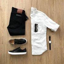 Estilo de hombre Casual Outfit classy casual outfits for guys Stylish Mens Outfits, Casual Outfits, Mode Outfits, Fashion Outfits, Mens Fashion, Look Man, Mens Attire, Outfit Grid, Men Style Tips