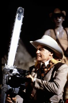 29 of 50 Dennis Hopper in The Texas Chainsaw Massacre 2 Titles: O Massacre da Serra Elétrica 2 People: Dennis Hopper Real Horror, Horror Show, Horror Films, Dennis Hopper, Texas Chainsaw Massacre, Celebrity Photography, Famous Monsters, Classic Monsters, Fun To Be One