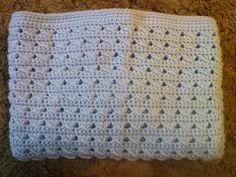Family, Books and Crochet...Oh My!: Slant Stitch Baby Blanket - Free Pattern