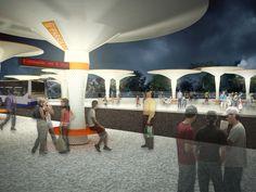 Studio Lauria propõe mobiliário urbano que gera energia e armazena água da chuva