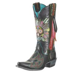 Ariat has joined forces with Gypsy Soule to create a line of boots that combine rock n roll style with cowgirl class. The Indian Sugar Soule b...