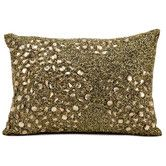 Found it at Wayfair - Luminescence Beaded All Over Polyester Throw Pillow
