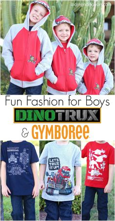 Fun Fashion for Boys - new Dinotrux line at Gymboree!!