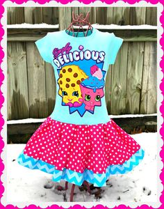 shopkins dress size 2t 3t 20in length ready by rose7mary7 5th