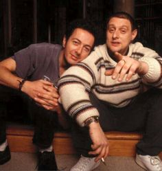 Joe Strummer (The Clash, 101'ers, Pogues, Mescaleros) and Shaun Ryder (Happy Monday).