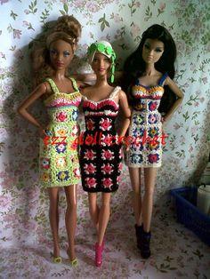 square crochet dress