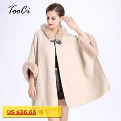 2017 Autumn/Winter Fashion Cape Poncho Women Fake Fur Hooded Cloak Shawl Casual Cloak Long Women Sweater Cardigan