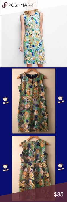 "🆕 Land's End Floral Dress Color Yourself Lovely With This Beautiful Floral Dress. Guaranteed To Make A Statement And Is Perfect For Any Occassion. Get Ready To Receive Many Compliments 💚  Details: 🌱 Pre-Loved And In Excellent Condition 🌱 Keyhole Opening In Front 🌱 Two Front Pockets 🌱 58% Baumwolle (Cotton) 🌱 38% Viskose (Rayon) 🌱 4% Elastane  🌱 Thick Fabric Material  Approximate Measurements (Laying Flat): 🌱 Underarm To Underarm 17-1/2"" 🌱 Mid-Width 15-1/4"" 🌱 Bottom-Width 22"" 🌱…"