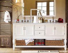 Bathroom Idea- from Potterybarn