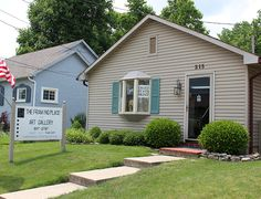 The Framing Place and Art Gallery, located in Waynesville, Ohio, offers framed and unframed art along with custom framing options.