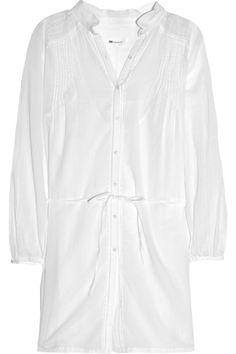 Vanessa Bruno Athé Lace-trimmed cotton voile shirt dress