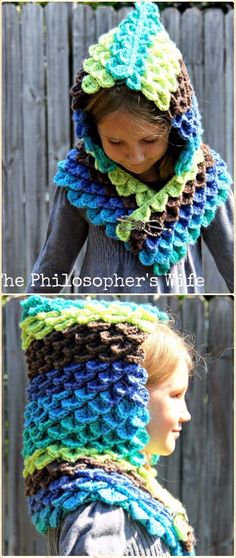 Crochet Peacock Hood Free Pattern - Crochet Hoodie Scarf Free Patterns