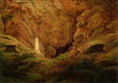 Tombs of Ancient Heroes - Caspar David Friedrich,     1812
