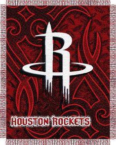 Amazon.com   NBA Houston Rockets 48   x 60   Red Tattoo Jacquard Woven  Blanket Throw   Sports Fan Throw Blankets   Sports   Outdoors 55f084484ba