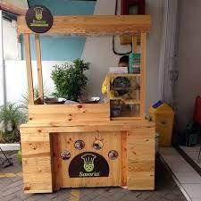 Melayani pembuatan gerobak Discount dengan syarat dan ketentuan : Like da… Kiosk Design, Cafe Design, Booth Design, Food Stall Design, Food Cart Design, Small Coffee Shop, Coffee Store, Food Kiosk, Wooden Food
