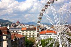 Budapest Eye látvány óriáskerék az Erzsébet téren, a belváros szívében