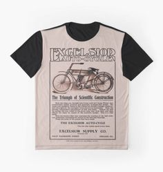 Vintage classic American motorcycle ad, Excelsior Auto Cycle by aapshop
