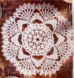 Crochet and Graphs: Toalhinhas para mesa em crochê - GRAFICOS