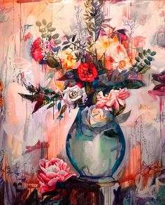 Artist Dimitra Milan has combined women and nature in one single canvas Art And Illustration, Arte Inspo, Dimitra Milan, Flower Wallpaper, Beautiful Paintings, Art Techniques, Art Tutorials, Amazing Art, Abstract