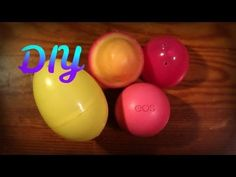 Like the eos lip balm but homemade and Easter-fied! Good for little gifts!