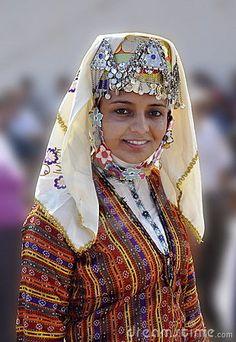 Turkish woman in traditional wear.